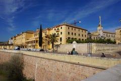 Guadalquivir esplanada, cordoba, Hiszpania obrazy stock