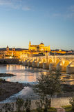Guadalquivir river in Cordoba, Andalusia, Spain. Royalty Free Stock Images