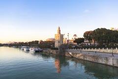 Guadalquivir river in Seville, Spain Royalty Free Stock Image