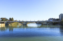 Guadalquivir river in Seville, Spain. This picture is taken in Seville. Seville is the capital and largest city of the autonomous community of Andalusia and the stock photos