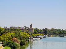 Guadalquivir River in Seville Stock Photography
