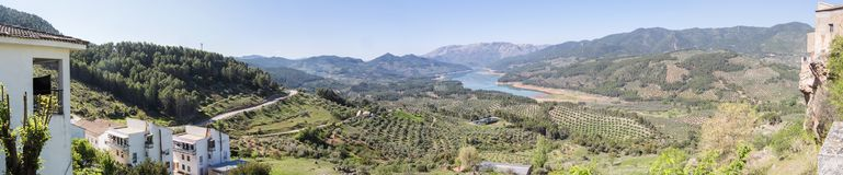 Guadalquivir river view, Tranco de Bea reservoir, Hornos de segura, Jaen, Spain.  stock photo