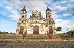 Guadalupe Kerk in Granada, Nicaragua Royalty-vrije Stock Foto's