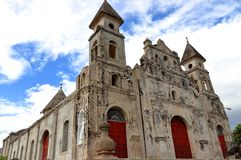 Guadalupe ko?ci?? w Granada, Nikaragua zdjęcia royalty free