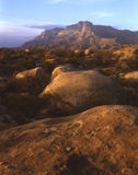 Guadalupe Mountains & Boulders. Boulders and the Guadalupe Mountains of West Texas Stock Images