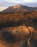 Guadalupe Mountains & A Cracked Boulder Royalty Free Stock Image