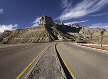 Guadalupe Mountains National Park. Is located in West Texas. El Capitan stands as a prominent landmark over the Chihuahuan Desert. The Guadalupe Mountains have Royalty Free Stock Image