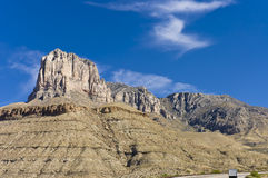 Guadalupe Mountains National Parks. Massive limestone formation of El Capitan in Guadalupe Mountains National Parks, Texas, USA stock image