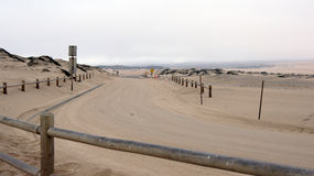 Free Guadalupe-Nipomo, CALIFORNIA, UNITED STATES - OCT 8, 2014: Sand Dunes And A Street Within The National Park In CA Along Stock Photography - 84228792