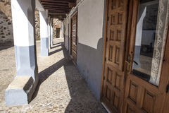 Guadalupe old town streets, Caceres, Spain Royalty Free Stock Photos