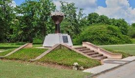 Guadalupe, pequeno canal, França - podem 10 2010: monumento do escravo Fotografia de Stock Royalty Free