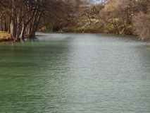 Guadalupe River flow after rain Royalty Free Stock Image