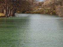 Guadalupe River-stroom na regen Royalty-vrije Stock Afbeelding