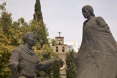 Guadalupe van het Standbeeld van de revelatie Heiligdom Mexico Royalty-vrije Stock Afbeelding