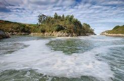 Guadamia beach  in villanueva de Pria Royalty Free Stock Image