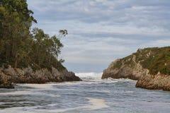 Guadamia beach  in villanueva de Pria Stock Photos