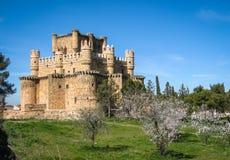 Guadamur slott, Toledo, Castilla la Mancha, Spanien Arkivfoto