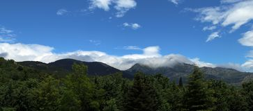 Guadarrama, βουνά του κέντρου της ιβηρικής χερσονήσου, Ισπανία στοκ εικόνες
