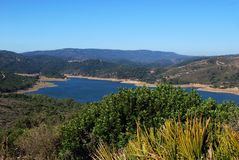 Guadarranque lake, Andalusia, Spain. Stock Images