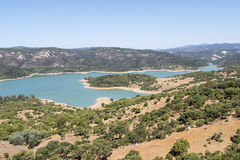 Guadarranque reservoir, Castellar de la Frontera, Andalusia, Spa Royalty Free Stock Photos