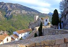 Guadelest城堡在西班牙 库存照片