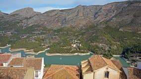 Guadelest水库在西班牙 免版税库存照片