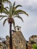 Guadelest镇在西班牙,阿利坎特省 免版税图库摄影