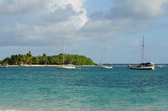 Guadeloupe. France, Ilet du Gosier in Guadeloupe royalty free stock photos