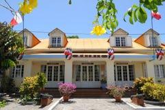 Guadeloupe. City hall of Terre-de-Haut stock photos