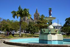 Guadeloupe, Caribbean. Point a Pitre city centre - capital of Guadeloupe, Caribbean Royalty Free Stock Image