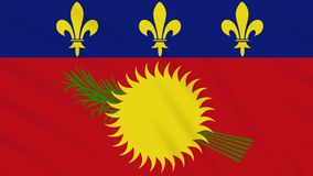 Guadeloupe flag waving cloth background, loop. Guadeloupe flag waving cloth, ideal for background, loop stock video