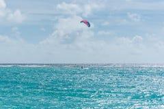 Guadeloupe, kitesurf fotografia stock