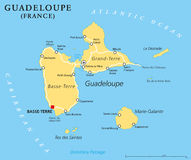 Guadeloupe Political Map Stock Photo