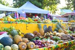 Guadeloupe rynek zdjęcia stock