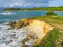 Guadeloupe-Seeklippen stockbilder