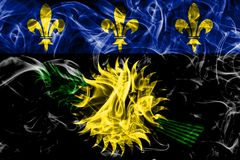 Guadeloupe unofficial smoke flag, France dependent territory fl. Ag Stock Photography