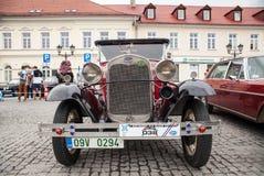 Guadi, vista frontale, retro automobile di progettazione Mostra delle automobili d'annata Fotografie Stock Libere da Diritti