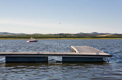 Guadiana river boarding area Stock Photography
