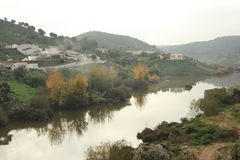 Guadiana river in Mertola portugal Stock Images