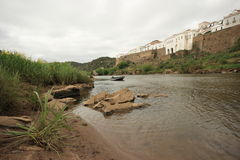 Guadiana River in Mertola Stock Photography