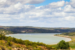 The Guadiana River, taken from Costa Esuri, Ayamonte. Royalty Free Stock Photos
