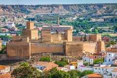 Guadix byar i landskapet av Granada Andalucia som är sydligt Royaltyfri Bild