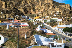 Guadix byar i landskapet av Granada Andalucia som är sydligt Arkivbild