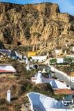Guadix byar i landskapet av Granada Andalucia som är sydligt Royaltyfria Foton