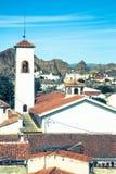 Guadix byar i landskapet av Granada Andalucia som är sydligt Arkivfoto