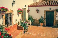 Guadix byar i landskapet av Granada Andalucia som är sydligt Arkivbilder
