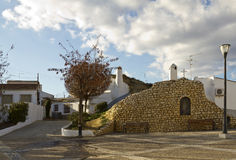 Guadix cave homes Stock Photos