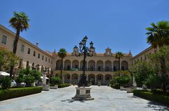 Guadix city square Stock Image