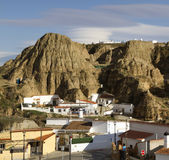 Guadix houses built into the hillside Royalty Free Stock Images