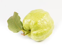 Guaiava (frutta tropicale) su fondo bianco Immagini Stock Libere da Diritti